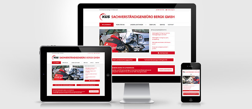 Neue responsive Website